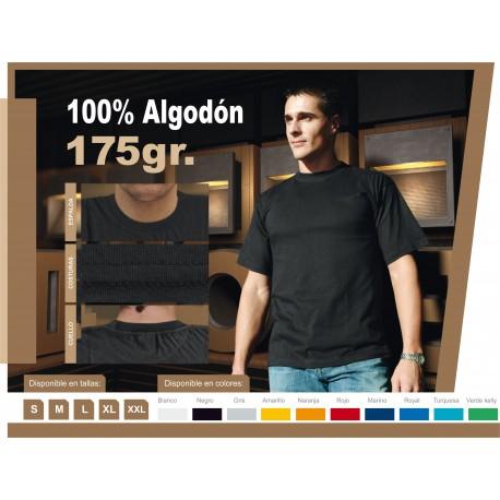 Camiseta Algodón Impresión a 1 Color