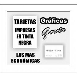 Tarjetas de Visita Impresas en Tinta Negra (económicas)