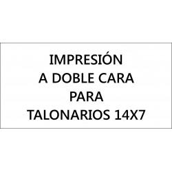 Impresión a doble cara para talonarios 14x7