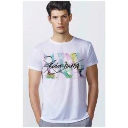 Camiseta Blanca con Impresión a Todo Color