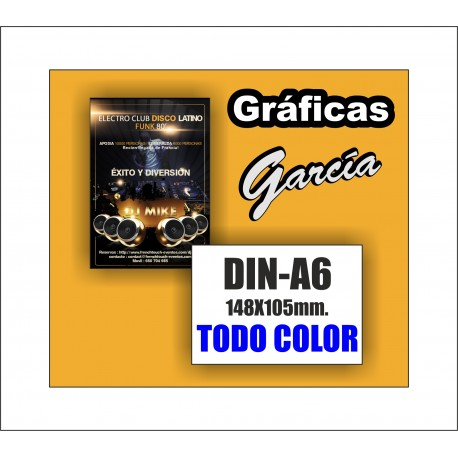 Flyers DIN-A6 Impresos a Todo Color