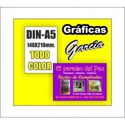 Flyers DIN-A5 Impresos a Todo Color