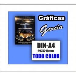 Flyers DIN-A4 Impresos a Todo Color